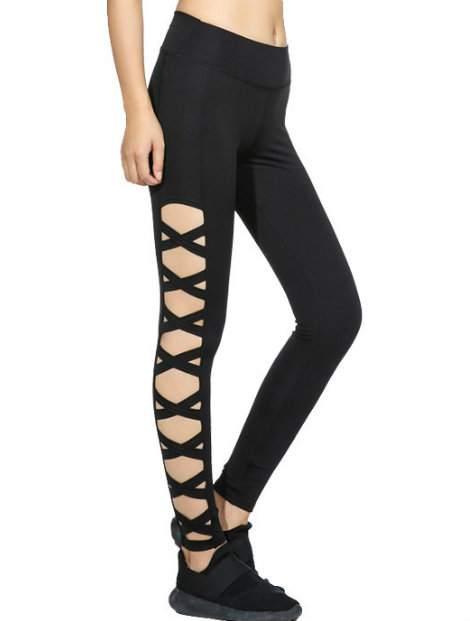 Wholesale Black Designed Workout Pant Manufacturer