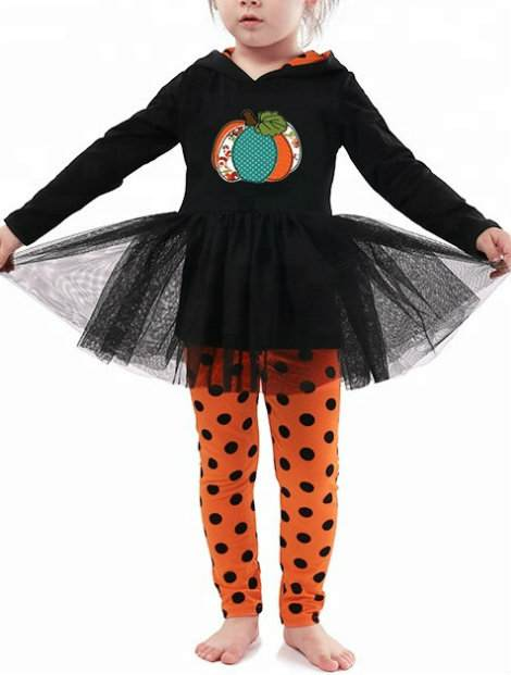Wholesale Black Dotted Red Girl's Trousers