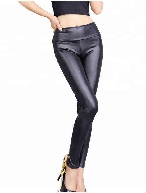 Wholesale Black Faux Leather Leggings Manufacturer