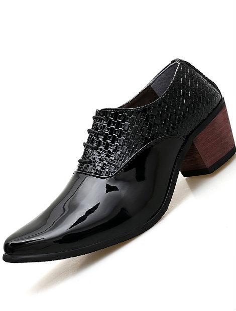 Wholesale Dignified Black Leather Men's Dress Shoe Manufacturer