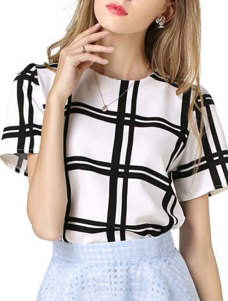 Wholesale Trendy Black And White Women's Custom Top Manufacturer