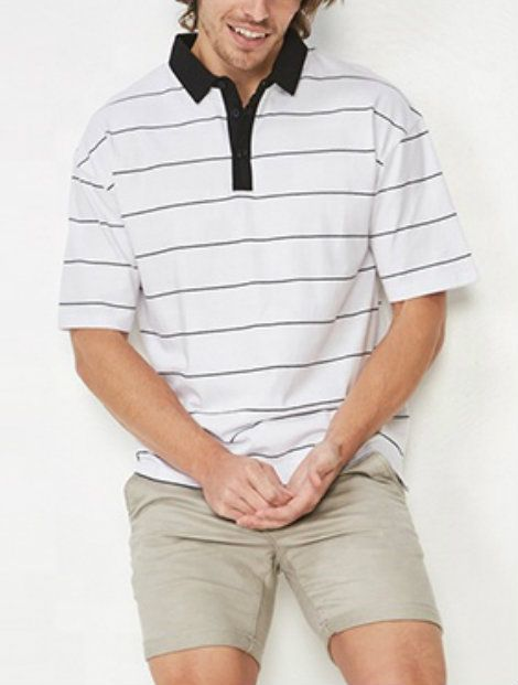 Wholesale Simple Black and White Collared Tennis T-Shirt Manufacturer