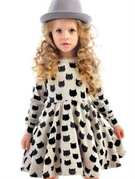 Wholesale Gray and Black Frock