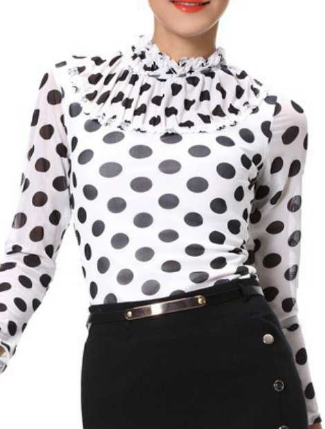 Wholesale Alluring Black And White Women's Custom Top Manufacturer