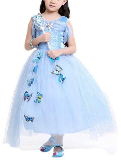 Wholesale Cute Blue Girl's Dress
