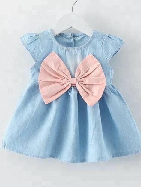 Wholesale Blue Kid's Vest Dress