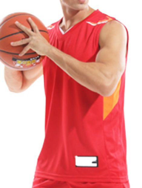 Wholesale Bright Red Basketball Vest