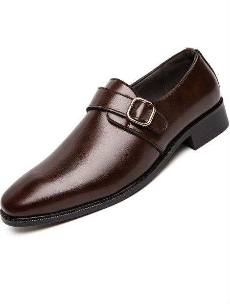 Wholesale Brown Elegant Men's Dress Shoe Manufacturer