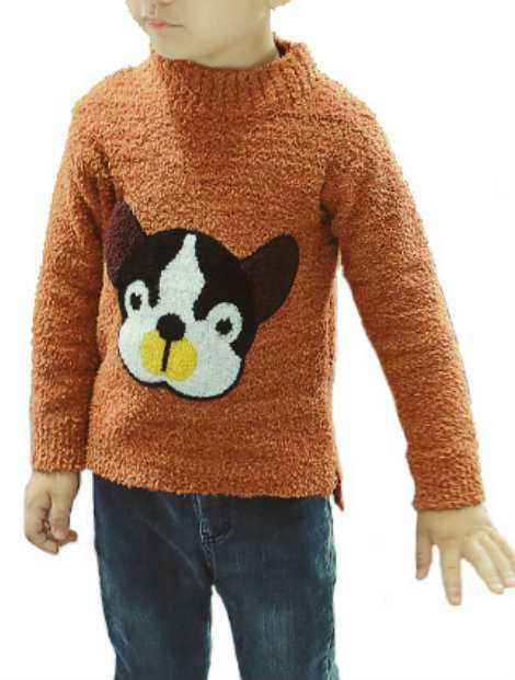 Wholesale Brown Boy's Sweater
