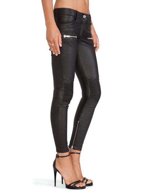 Wholesale Captivating Black Faux Leather Leggings Manufacturer