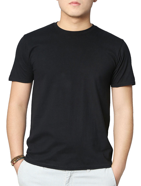 Wholesale Casual Black Tee Manufacturer