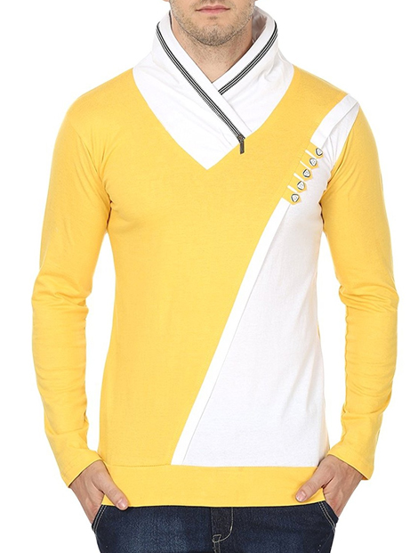 Wholesale Casual Yellow Tee Manufacturer