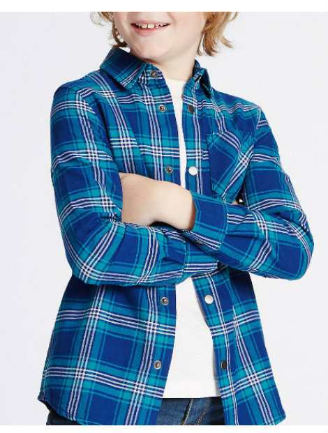Wholesale Checked Boy's Shirt