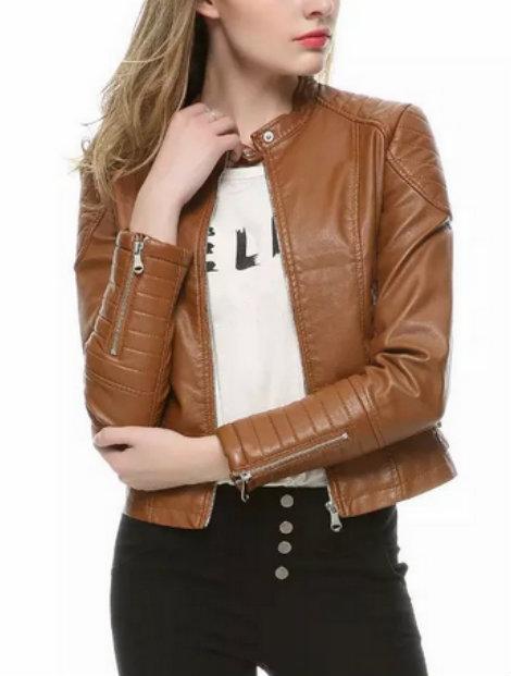 Wholesale Classy Brown Women's Jacket Manufacturer