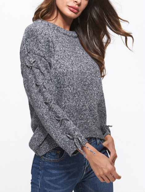Wholesale Classy Gray Women's Sweater Manufacturer
