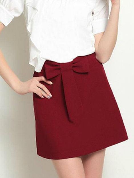 Wholesale Classy Maroon Skirt Manufacturer