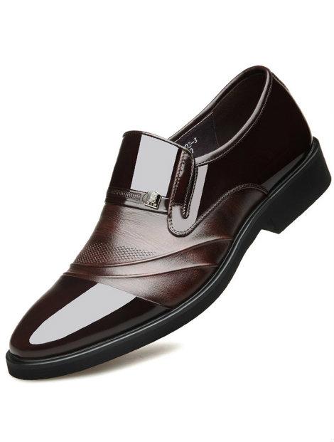 Wholesale Dark Brown Men's Funky Men's Dress Shoe Manufacturer
