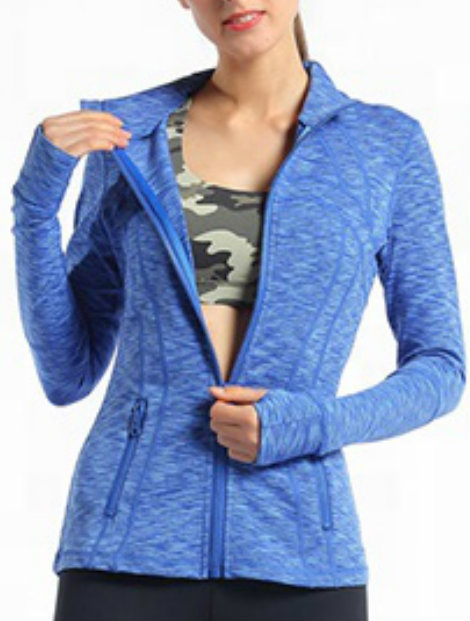 Wholesale Dark Sky Blue Fitness Jacket Manufacturer