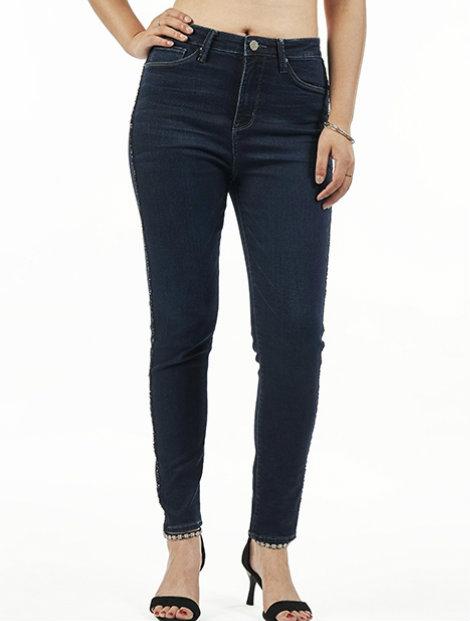 Wholesale Stylish Dark Women's Jeans Manufacturer