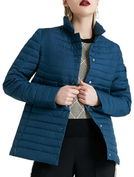 Wholesale Deep Blue Women's Jacket Manufacturer