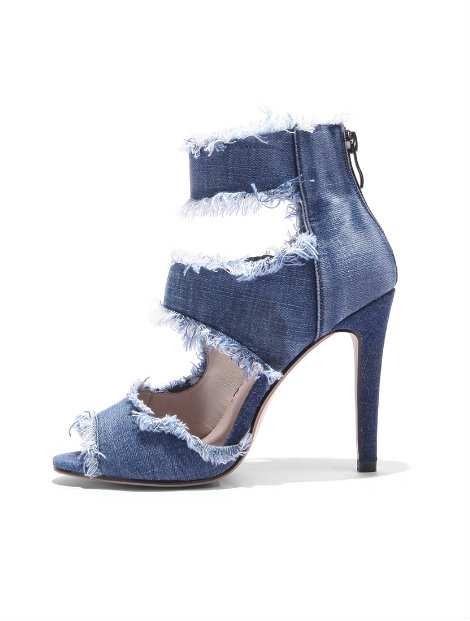 Wholesale Blue Funky Denim Shoes Manufacturer