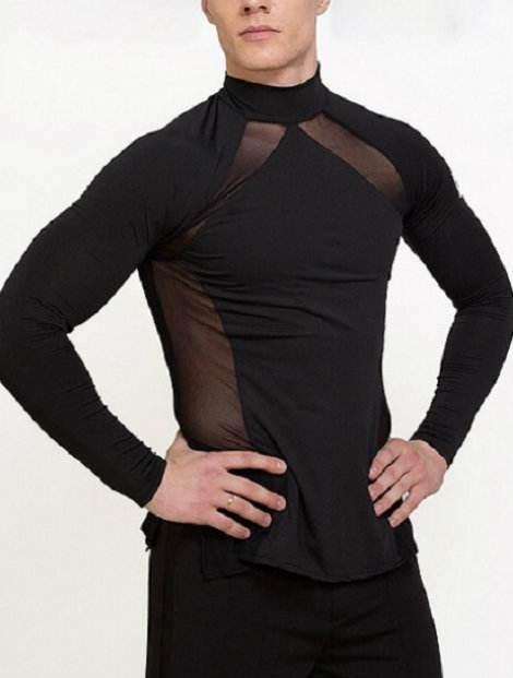 Wholesale Well Designed Black Dance Top
