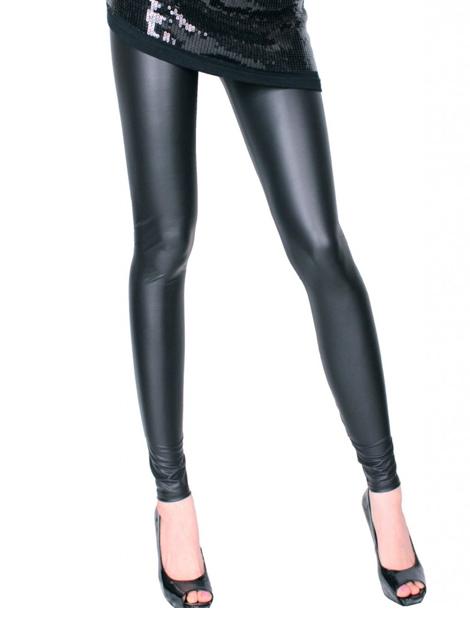 Wholesale Enticing Black Faux Leather Leggings Manufacturer