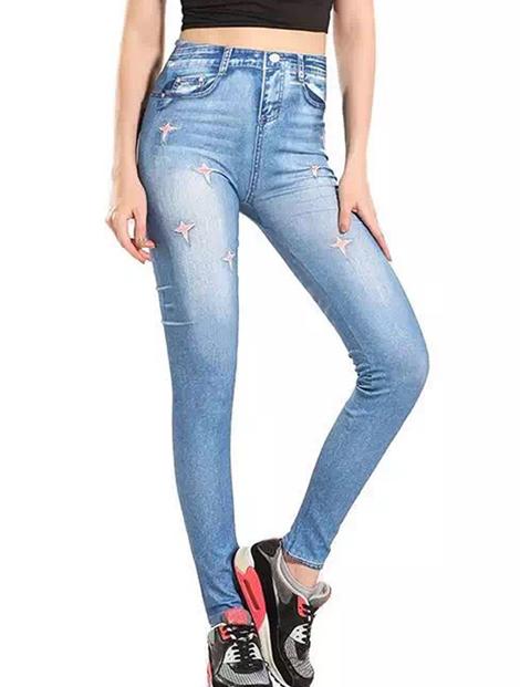 Wholesale Fashionable Denim Leggings Manufacturer