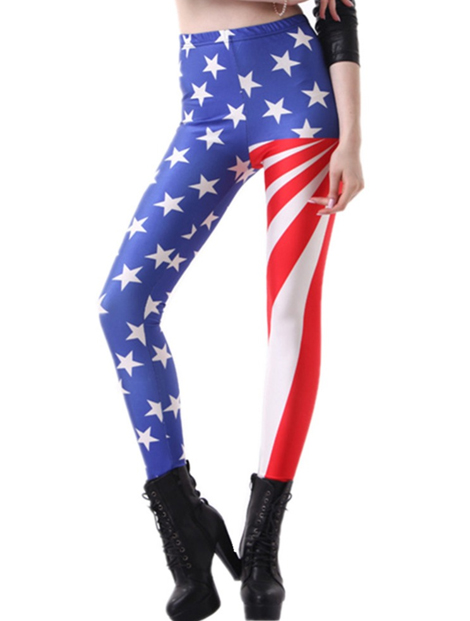 Wholesale Flag Printed Women's Leggings Manufacturer