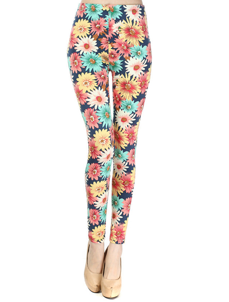 Wholesale Floral Printed Women's Leggings Manufacturer