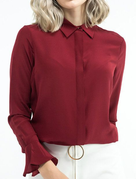 Wholesale Full Sleeved Red Women's Top Manufacturer