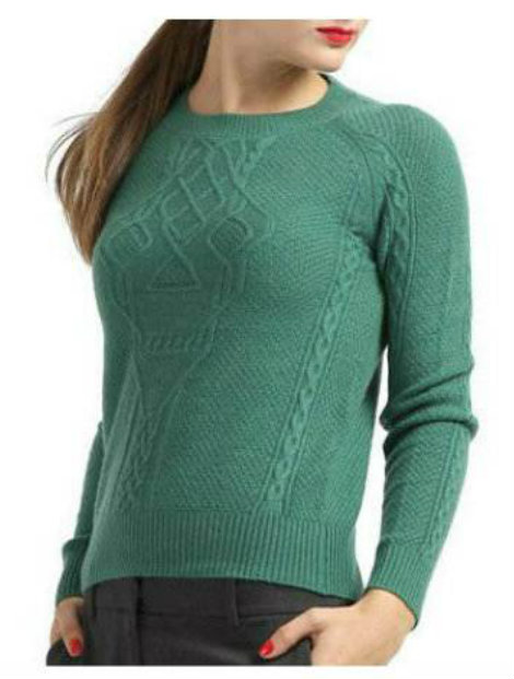Wholesale Gentle Green Women's Sweater Manufacturer