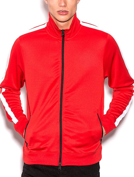 Wholesale Glorious Red Sports Jacket Manufacturer