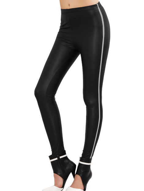 Wholesale Gorgeous Black Pu Leather Leggings Manufacturer