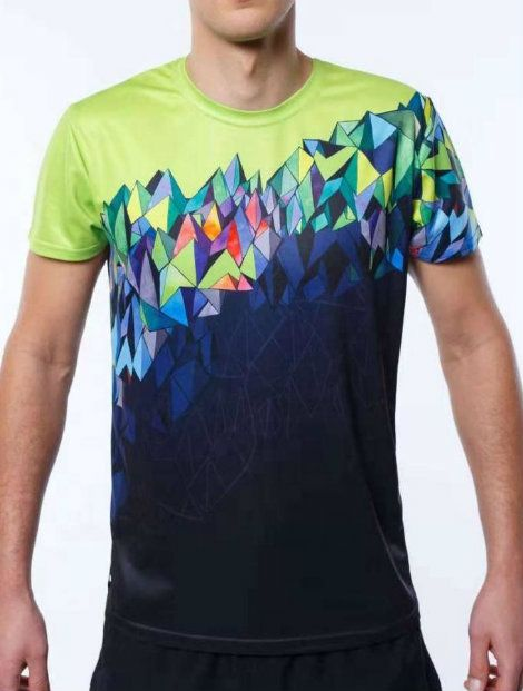 Wholesale Round Neck Green Sublimated T Shirt Manufacturer