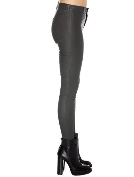 Wholesale Grey Glossy Trendy Women's Leggings
