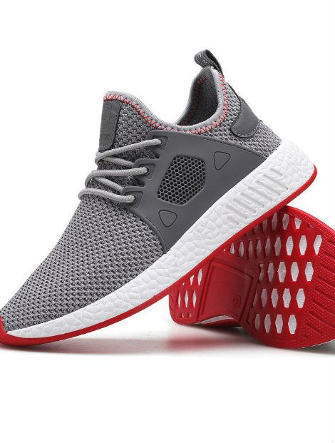 Wholesale Grey Red Running Shoes Manufacturer