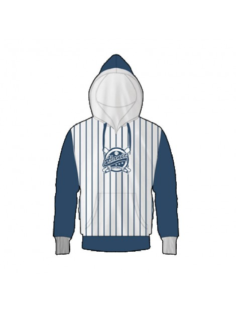 Wholesale Smart Blue and White Hoody Manufacturer