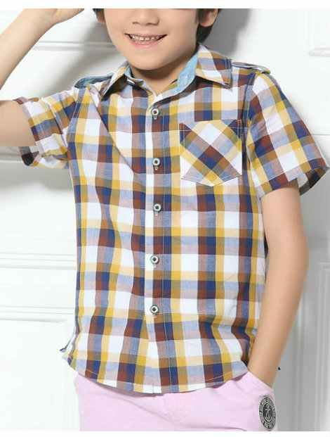 Wholesale Checked Kid's Shirt