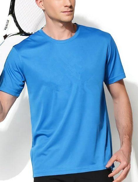 Wholesale Light Blue Short Sleeved Tennis T-Shirt Manufacturer
