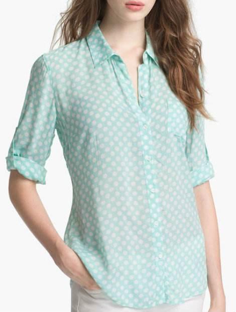 Wholesale Light Green Women's Shirt