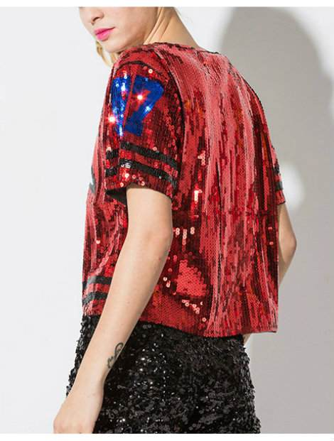 Wholesale Magical Red and Black Dance T-Shirt