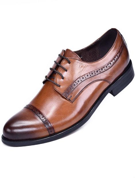Wholesale Shaded Brown Unique Men's Dress Shoe Manufacturer
