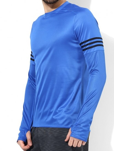 Wholesale Attractive Blue Workout Tee Manufacturer