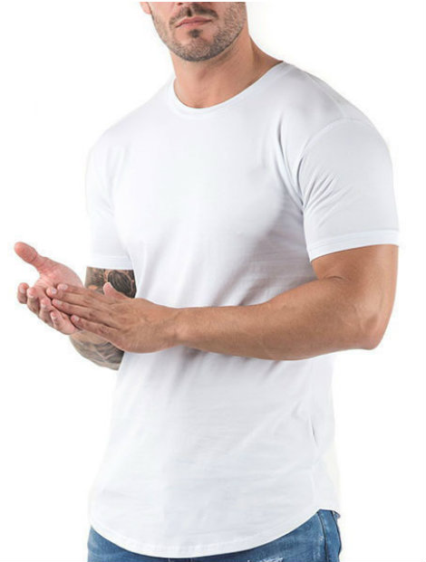 Wholesale Simple White Running Tee Manufacturer