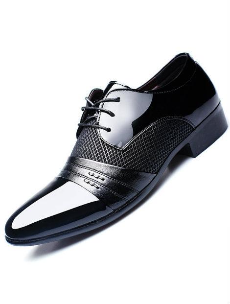 Wholesale Modish Men's Black Dress Shoe Manufacturer
