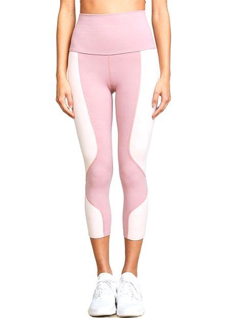 Wholesale Girly Pink Workout Capri Manufacturer