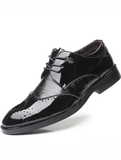Wholesale Polished Black Men's Dress Shoe Manufacturer