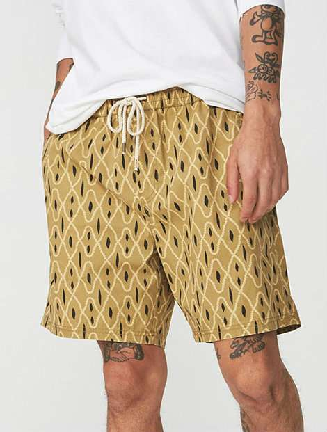 Wholesale Printed Yellow Boxing Shorts Manufacturer