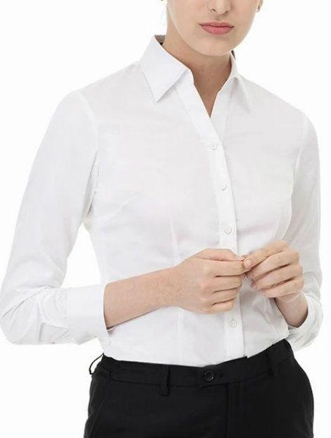Wholesale Pure White Women's Shirt
